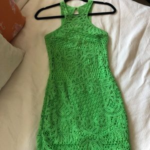 Lilly Pulitzer Jaimie Crochet Dress Green XXS